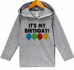 7 ate 9 Apparel Kid's Balloons Birthday Hoodie