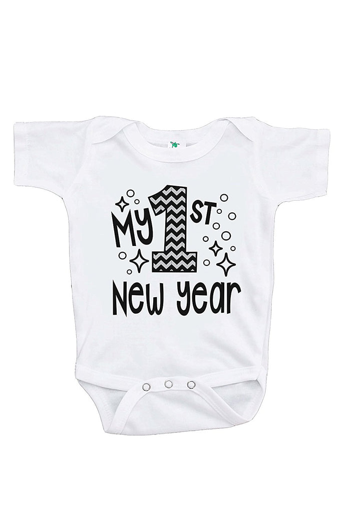 7 ate 9 Apparel Kids First New Years Eve Grey Baseball Tee