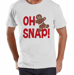 Oh Snap! Gingerbread Man - Men's White T-shirt
