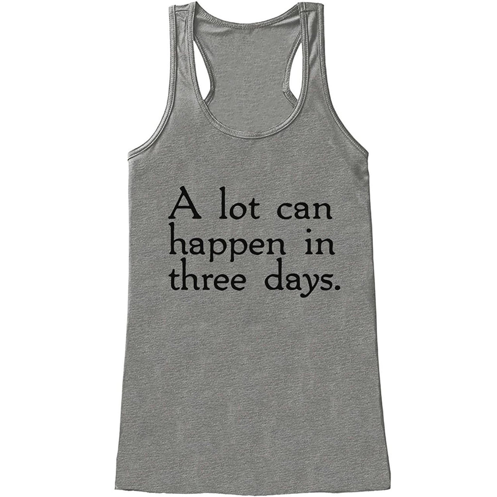 7 ate 9 Apparel Womens Three Days Religious Easter Tank Top