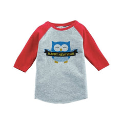 7 ate 9 Apparel Kids Owl Happy New Year Raglan Shirt