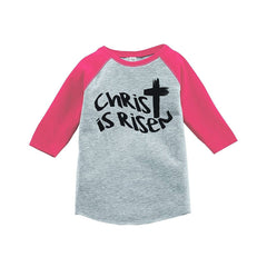7 ate 9 Apparel Baby's Christ is Risen Religious Easter Raglan