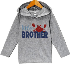 7 ate 9 Apparel Baby Boy's Little Brother Summer Hoodie Pullover