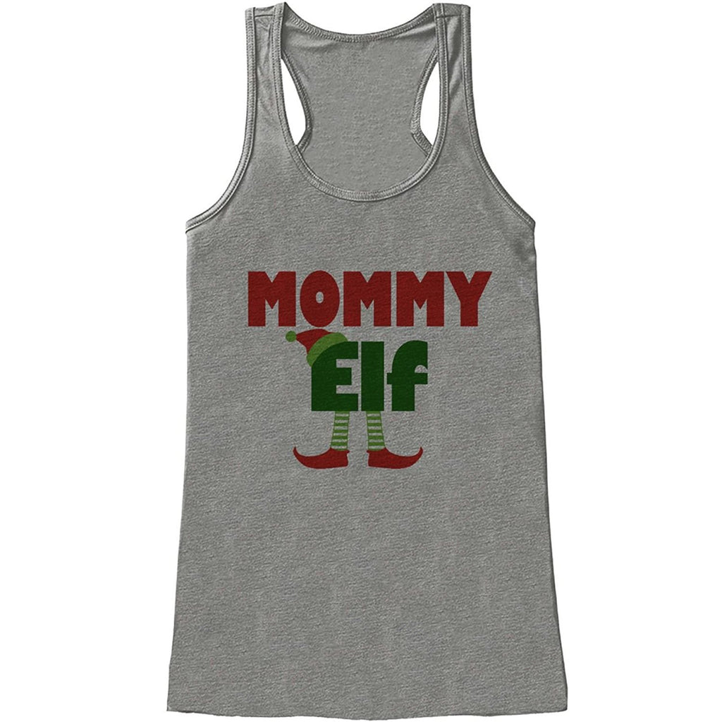 7 ate 9 Apparel Womens Mommy Elf Christmas Tank Top