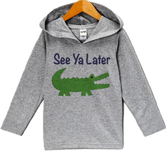 7 ate 9 Apparel Baby Boy's Novelty Alligator Hoodie Pullover