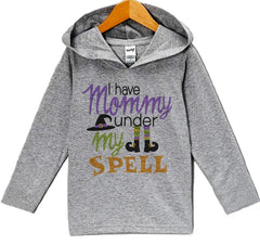 7 ate 9 Apparel Baby Mommy Is Under My Spell Halloween Hoodie