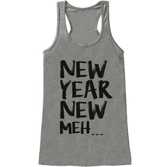 7 ate 9 Apparel Women's New Year Meh.. New Years Tank Top