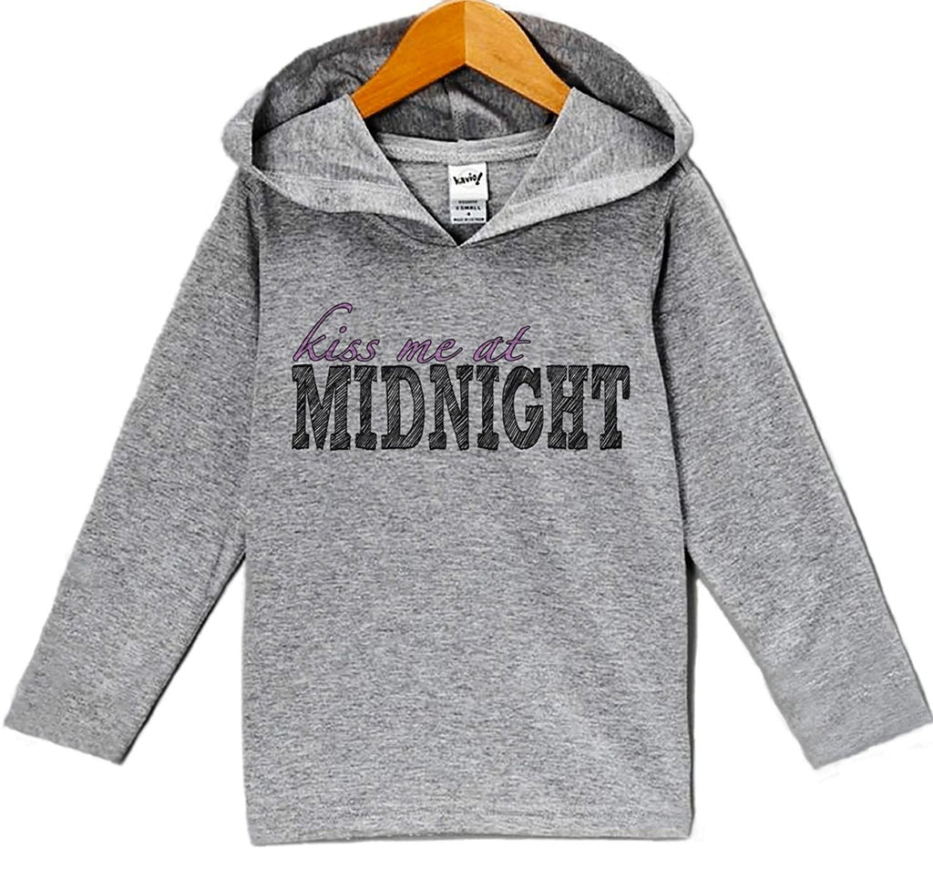 7 ate 9 Apparel Baby Girl's Kiss Me At Midnight New Years Eve Hoodie Pullover