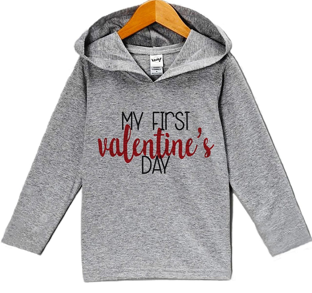 7 ate 9 Apparel Baby's My First Valentine's Day Hoodie