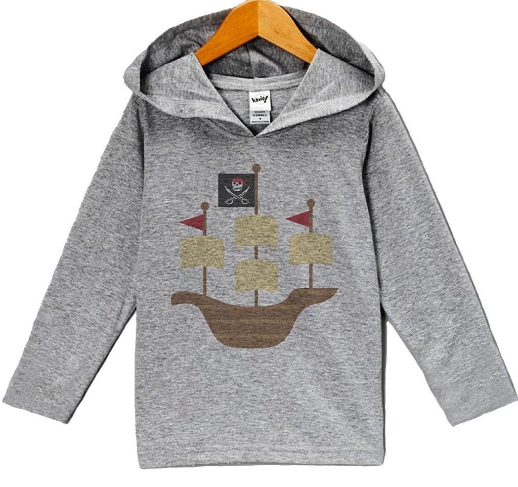 7 ate 9 Apparel Baby Boy's Novelty Pirate Hoodie Pullover