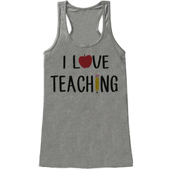 7 ate 9 Apparel Womens I Love Teaching Teacher Tank Top