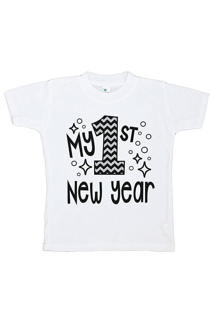 7 ate 9 Apparel Baby's 1st New Year's Eve T-shirt