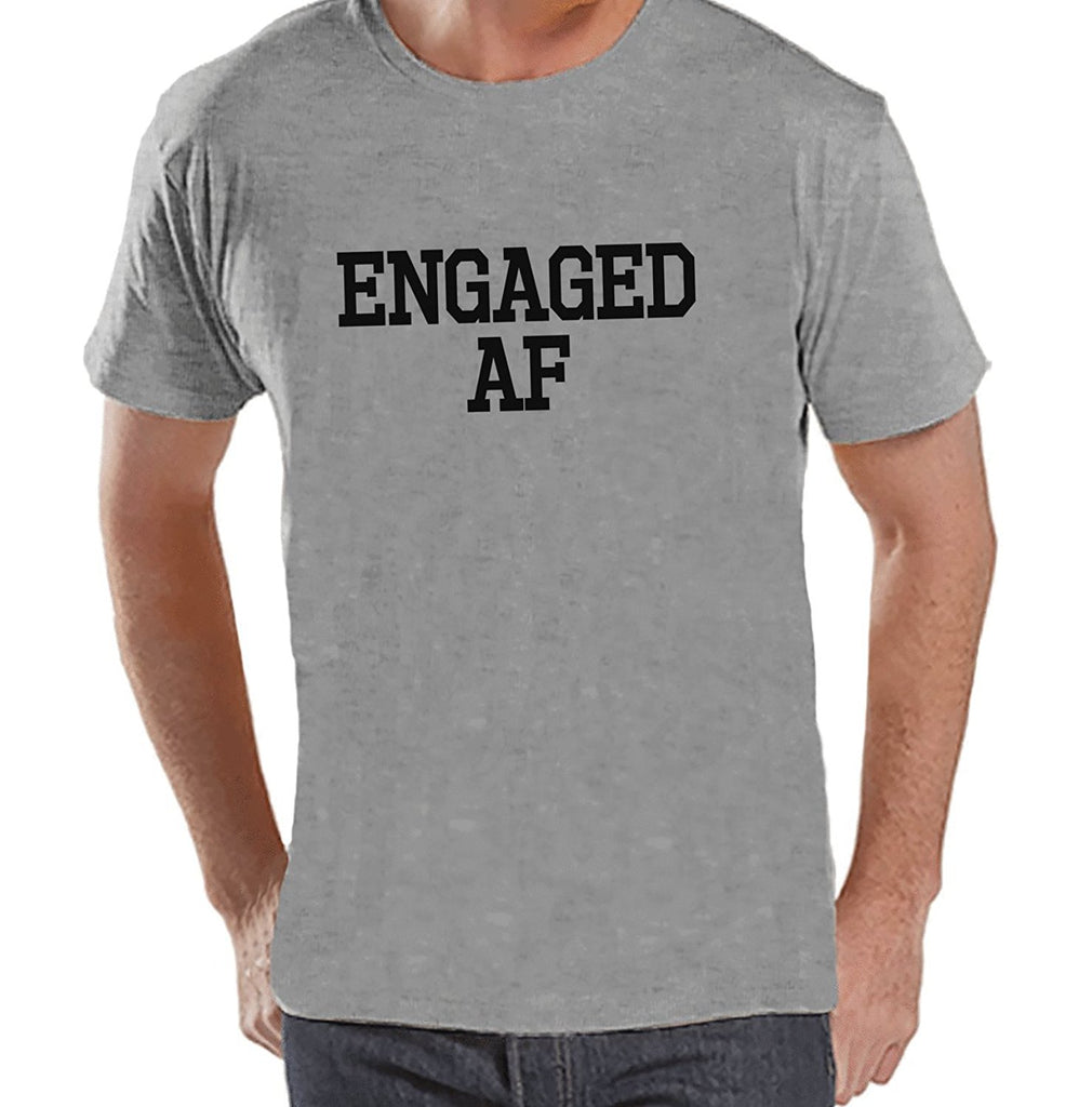 7 ate 9 Apparel Men's Engaged AF Groom T-shirt