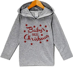 7 ate 9 Apparel Baby's First Christmas Hoodie