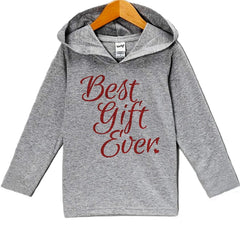 7 ate 9 Apparel Baby's Best Gift Ever Christmas Hoodie