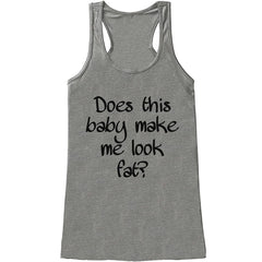 7 ate 9 Apparel Women's Funny Pregnancy Announcement Tank Top