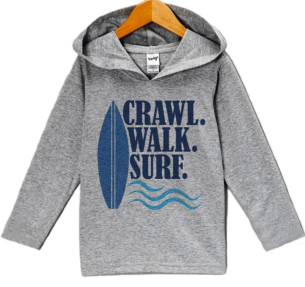 7 Ate 9 Apparel Baby Boy's Crawl Walk Surf Summer Hoodie Pullover