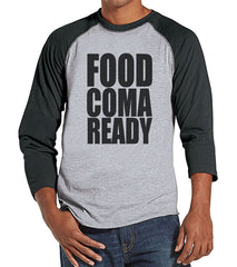 7 ate 9 Apparel Men's Food Coma Ready Thanksgiving Raglan