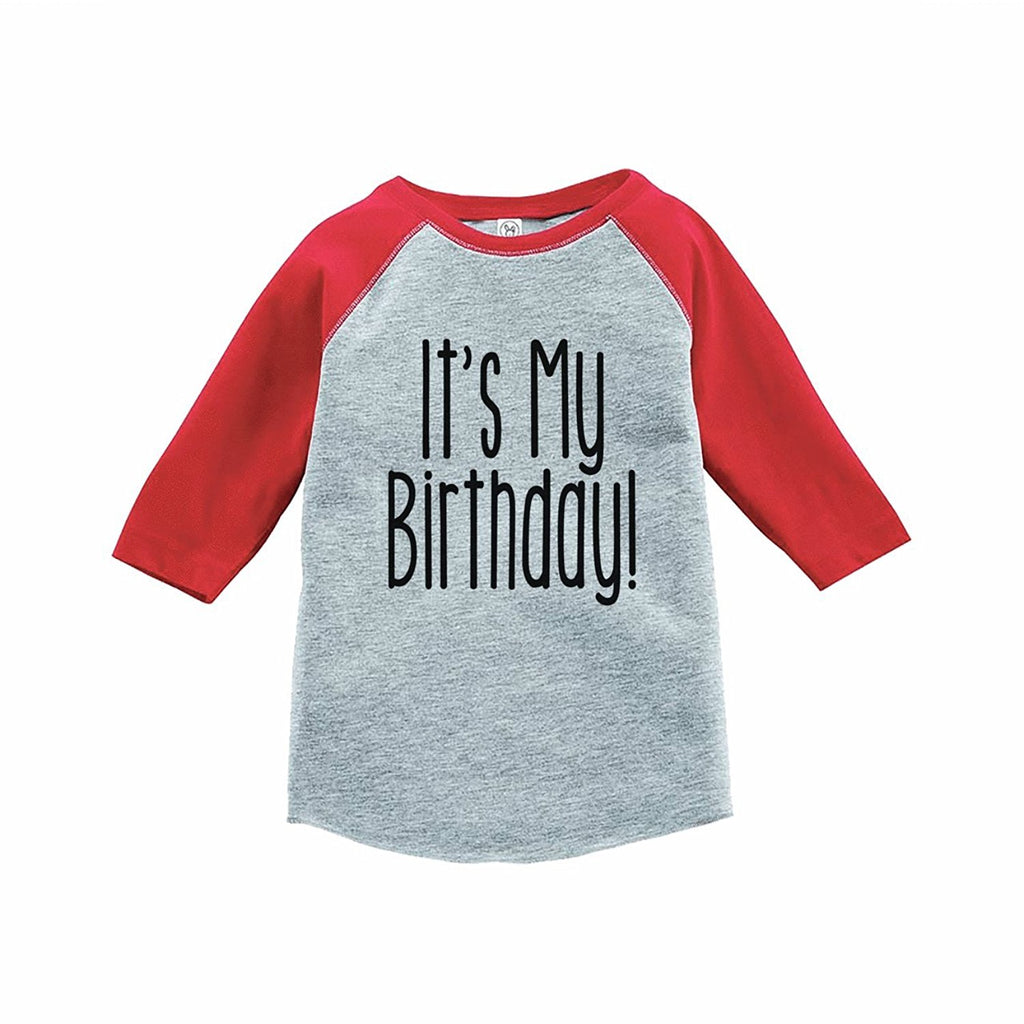 7 ate 9 Apparel Kids It's My Birthday Red Raglan Tee