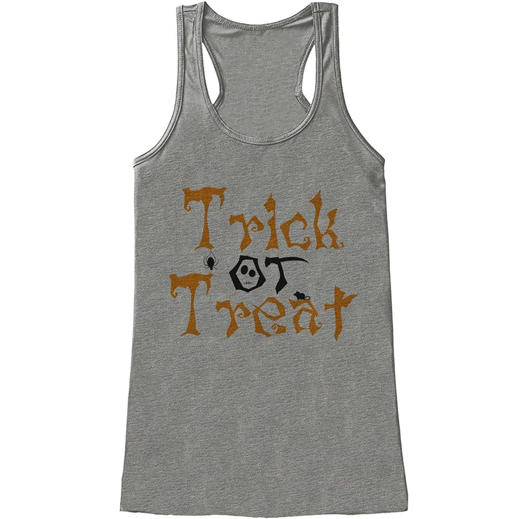 7 ate 9 Apparel Womens Trick or Treat Halloween Tank Top