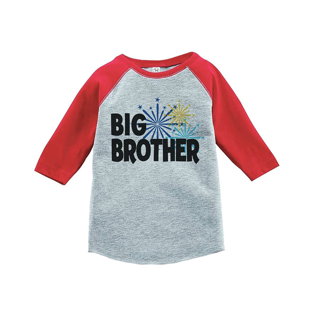 7 ate 9 Apparel Kids Big Brother Happy New Year Raglan Shirt