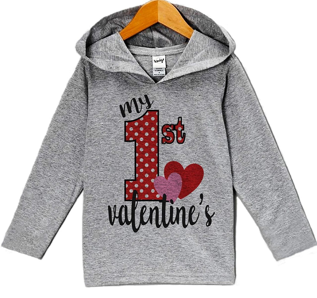 7 ate 9 Apparel Baby's My 1st Valentine's Day Hoodie