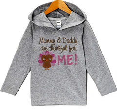 7 ate 9 Apparel Baby Girl's Turkey Thanksgiving Hoodie