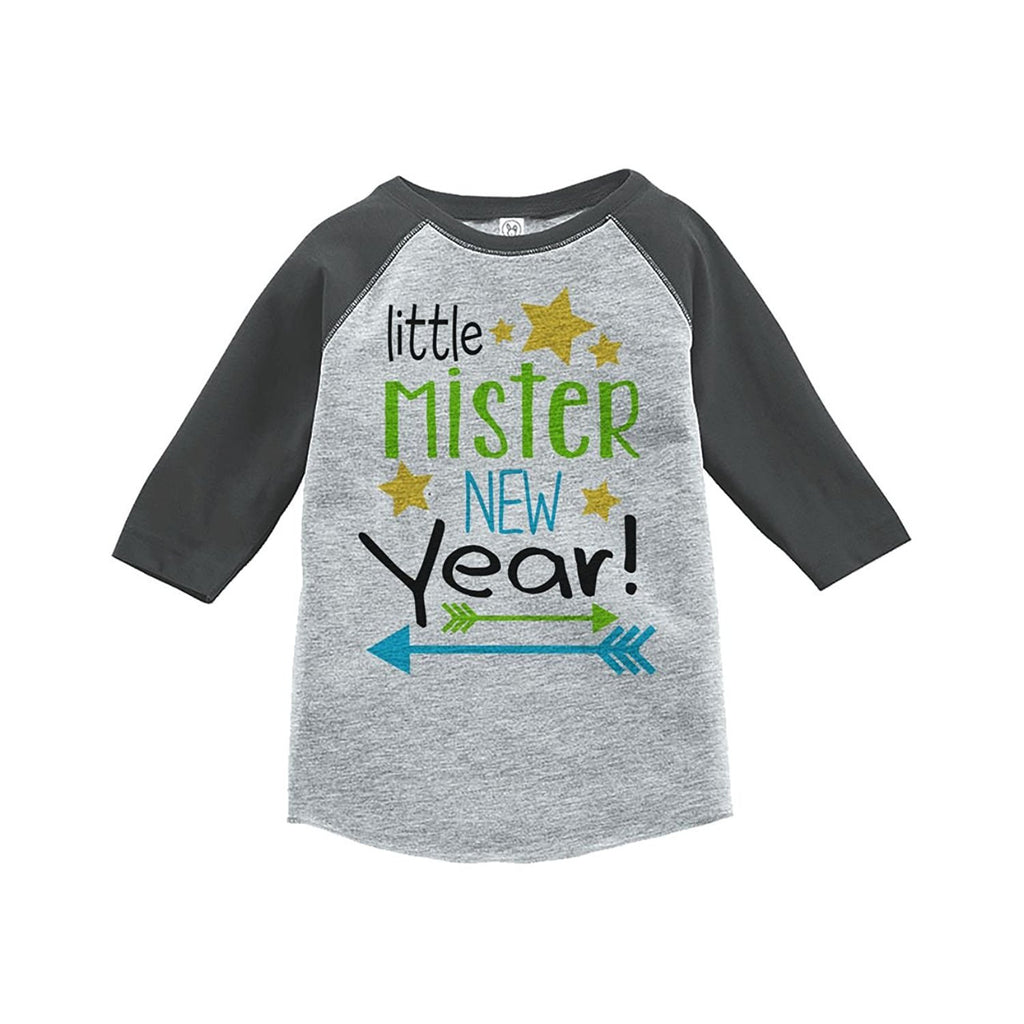 7 ate 9 Apparel Kids Little Mister New Year Raglan Shirt