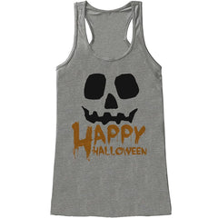 7 ate 9 Apparel Womens Happy Halloween Tank Top