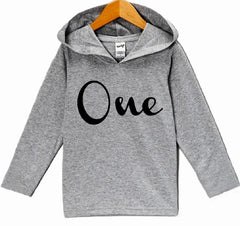 7 ate 9 Apparel Baby Boy's First Birthday One Hoodie Pullover