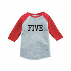 7 ate 9 Apparel Boy's Super Hero Birthday Red Raglan Tee
