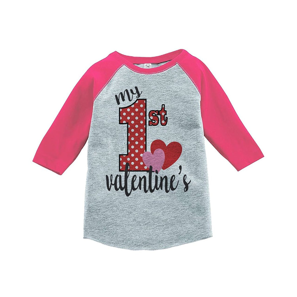 7 ate 9 Apparel Girl's My 1st Valentine's T-shirt