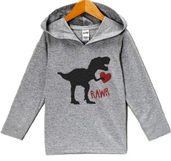7 ate 9 Apparel Baby's Dinosaur Valentine's Day Hoodie
