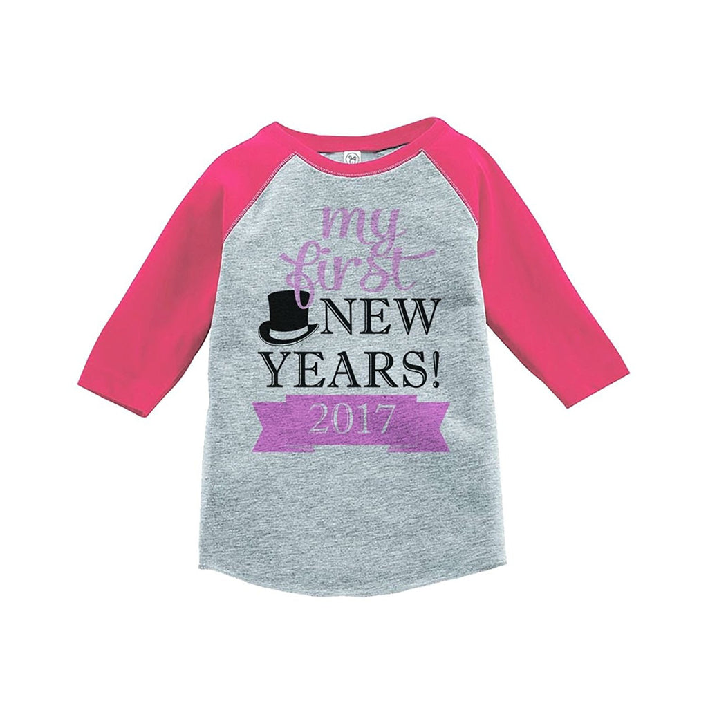 7 ate 9 Apparel Kids First New Year Raglan Shirt
