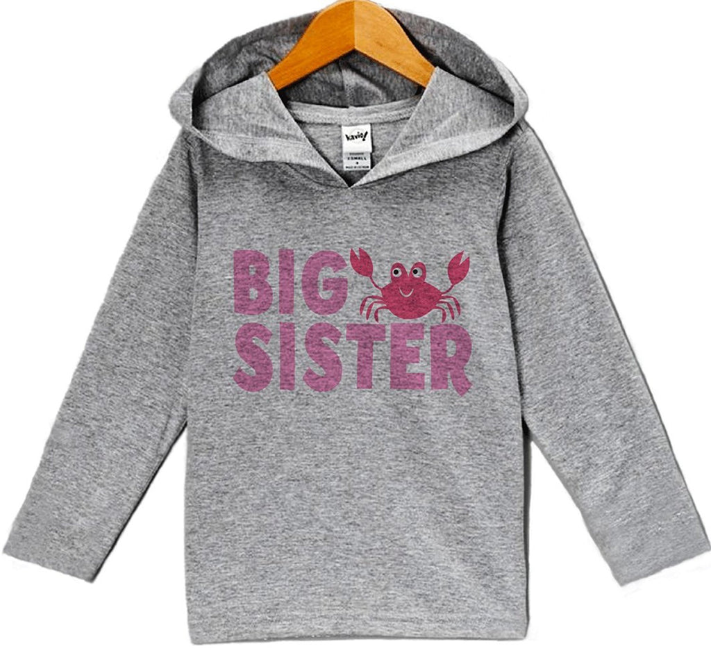 7 ate 9 Apparel Baby Girl's Big Sister Summer Hoodie Pullover