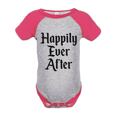 7 ate 9 Apparel Girl's Happily Ever After Wedding Pink Raglan Onepiece