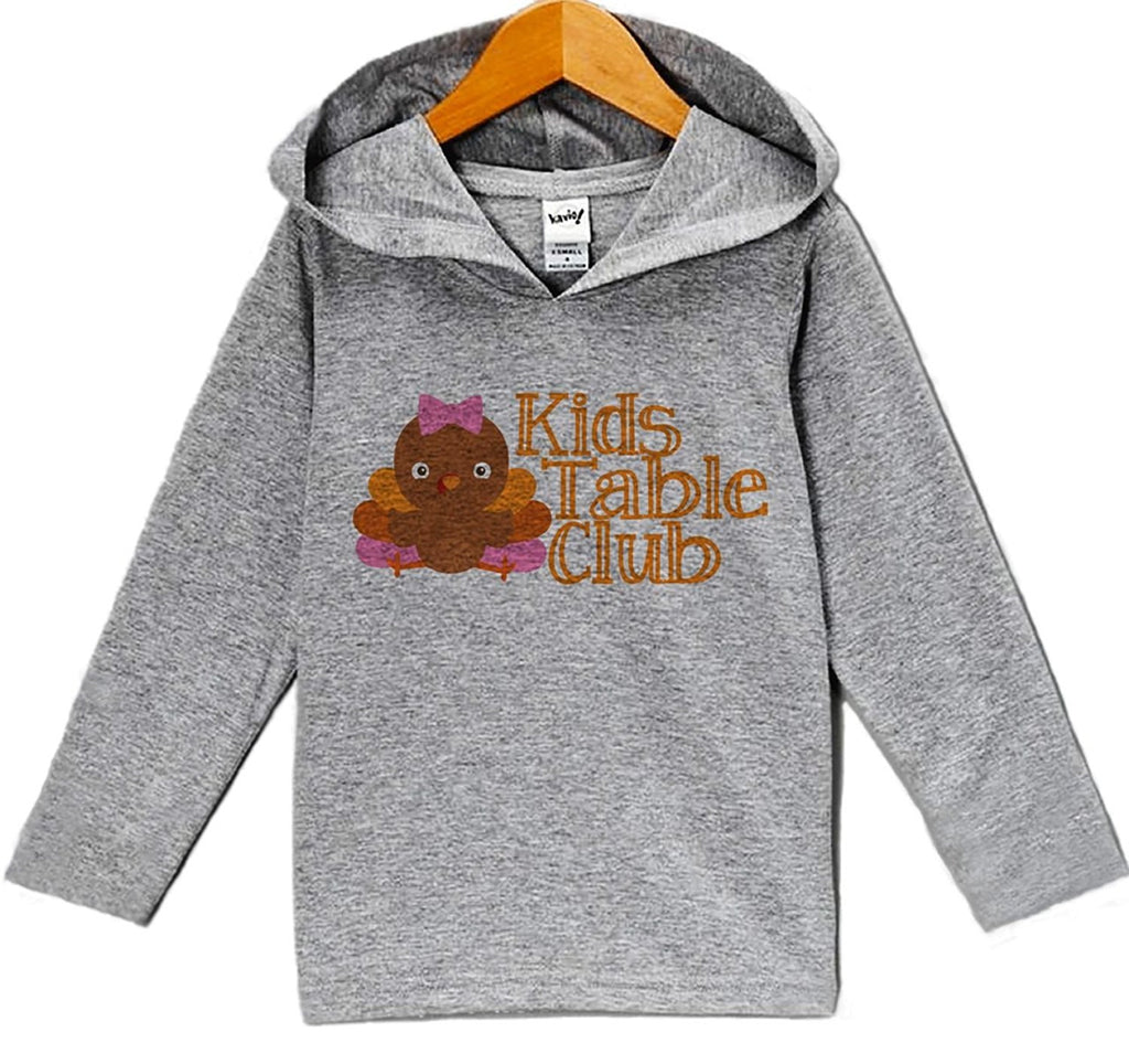 7 ate 9 Apparel Baby Girl's Kid's Table Thanksgiving Hoodie