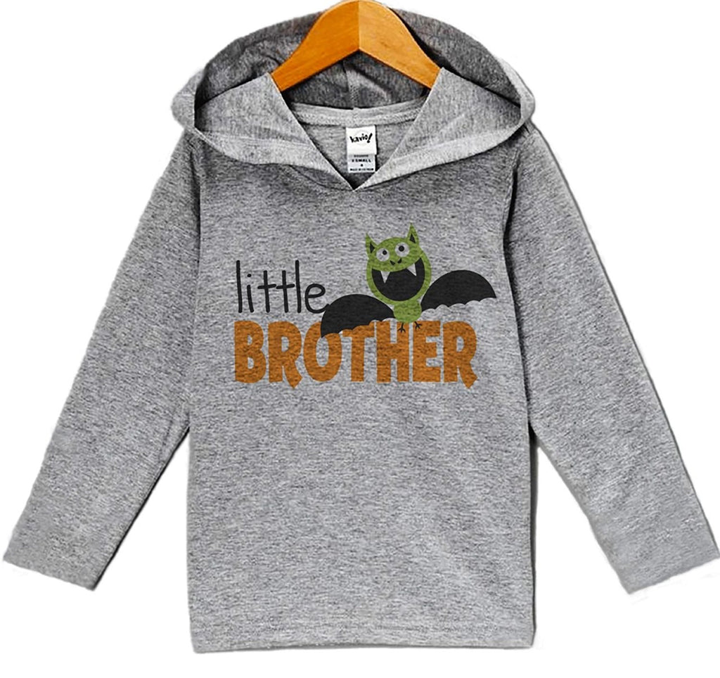 7 ate 9 Apparel Baby Little Brother Halloween Hoodie