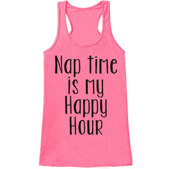 7 ate 9 Apparel Womens Nap Time Is My Happy Hour Tank Top