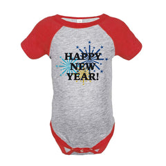 7 ate 9 Apparel Baby's Fireworks Happy New Year Onepiece
