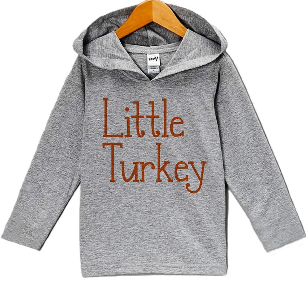 7 ate 9 Apparel Baby's Little Turkey Thanksgiving Hoodie