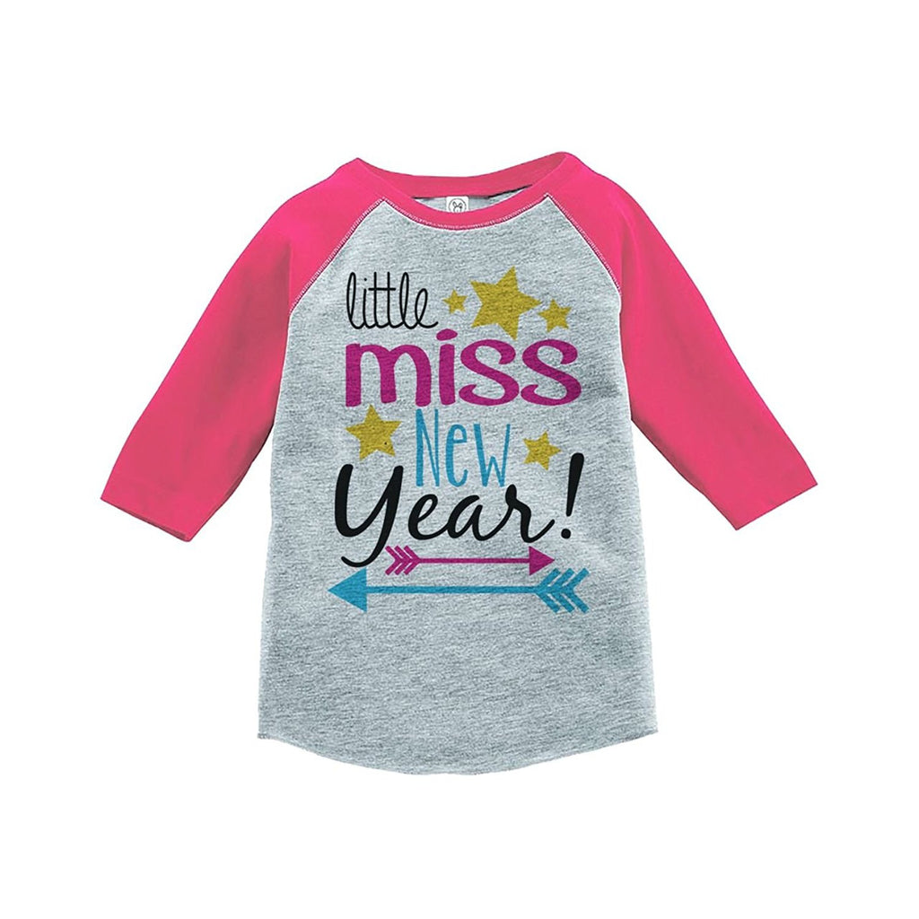 7 ate 9 Apparel Kids Little Miss New Year Raglan Shirt