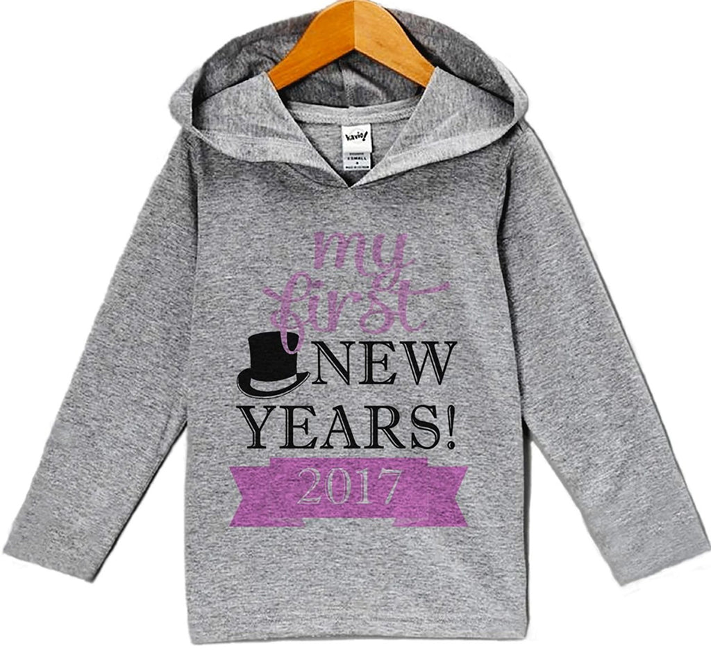 7 ate 9 Apparel Baby Girl's My First New Years Eve Hoodie Pullover