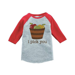 7 ate 9 Apparel Baby's I Pick You Thanksgiving Red Raglan