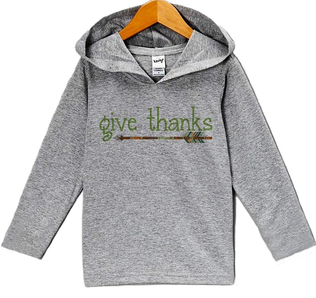 7 ate 9 Apparel Baby's Give Thanks Thanksgiving Hoodie