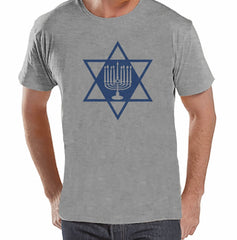 Menorah - Men's Grey T-shirt