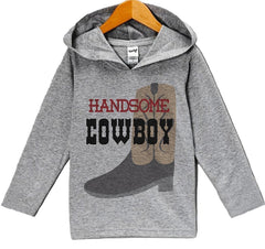 7 ate 9 Apparel Baby Boy's Novelty Handsome Cowboy Hoodie Pullover