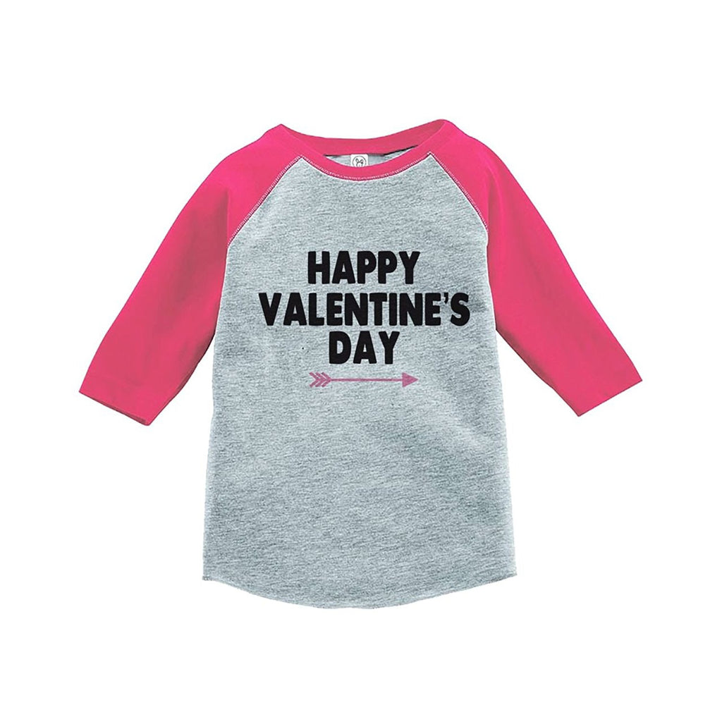 7 ate 9 Apparel Girl's Happy Valentine's T-shirt