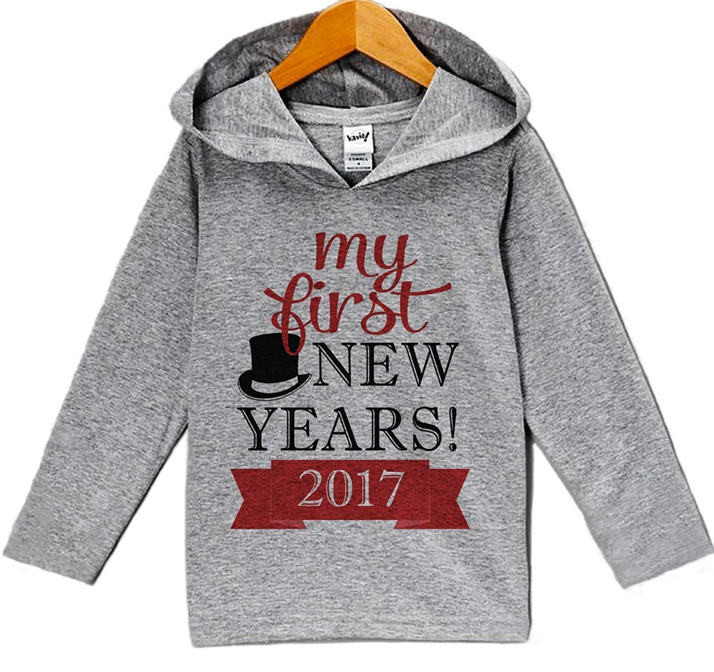 7 ate 9 Apparel Baby Boy's My First New Years Eve Hoodie Pullover