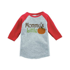 7 ate 9 Apparel Baby's Mommy's Little Pumpkin Red Raglan